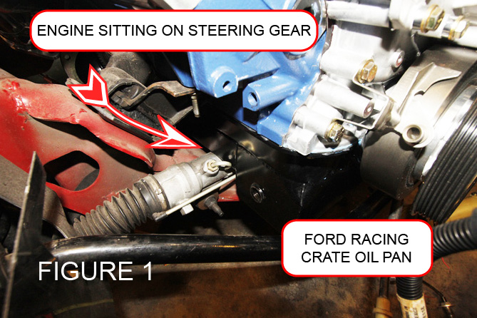 Engine Sitting on Steering Gear